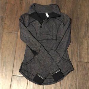 Grey & Black Lululemon Half-Zip Sweatee